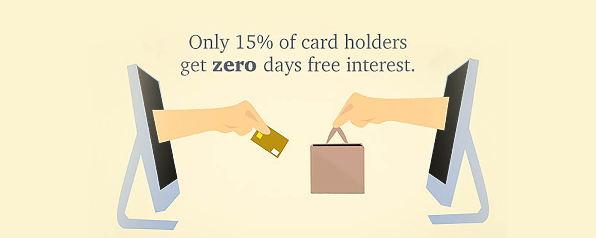 Only 15% of card holders get zero days free interest