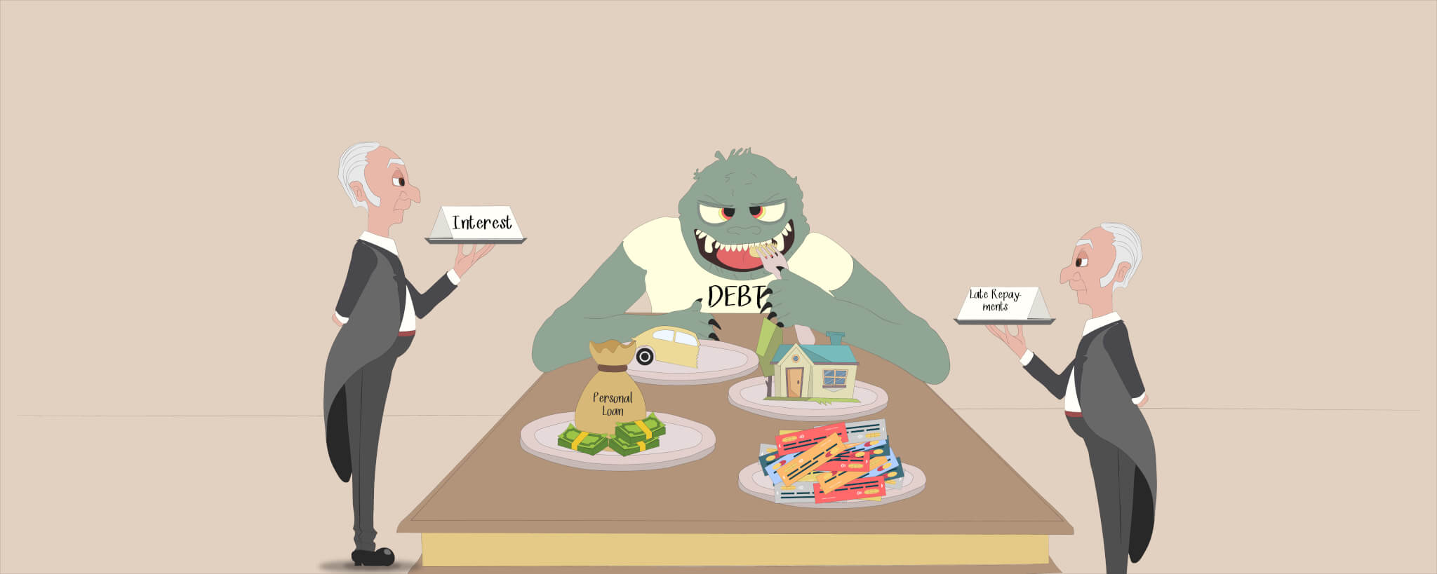 Do not feed the debt monster