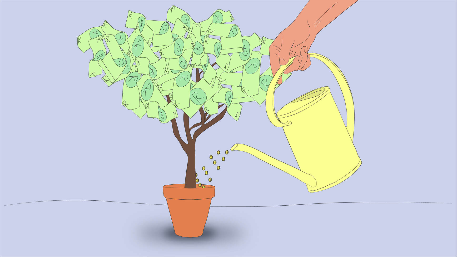 Watering a money tree to help your investment grow