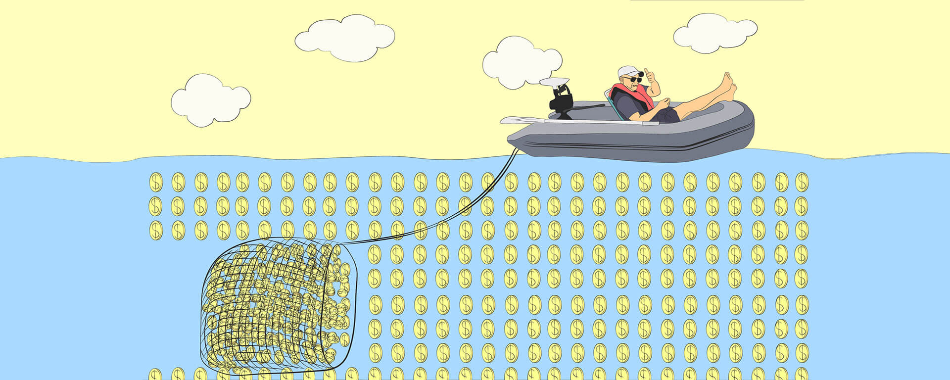 Fishing for money to create wealth