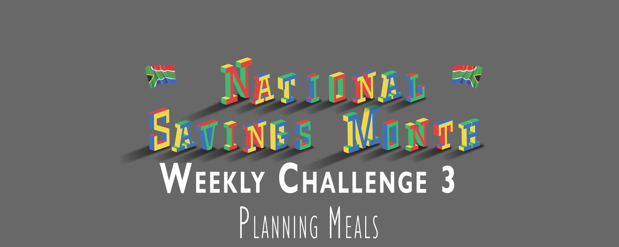 National Savings Month Weekly Challenge 3 - Planning Meals
