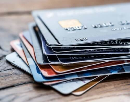 credit cards stacked on one another