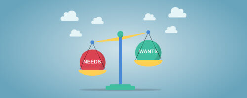 Knowing The Difference Between Financial WANTS And NEEDS